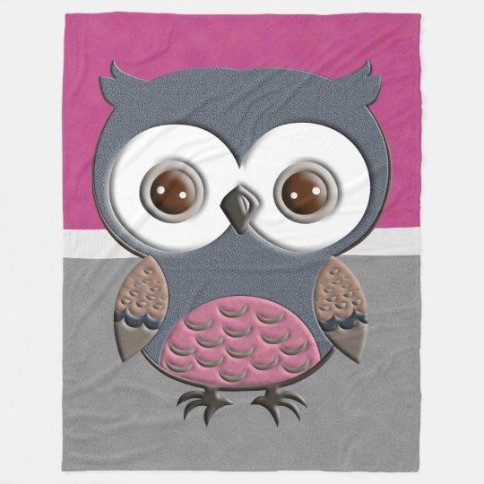 Beautiful Retro Owl Fleece Blanket