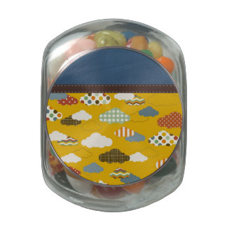 Beautiful Retro Trendy Texture Pattern Jelly Belly Candy Jar