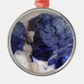 Beautiful rich Lapis Silver-Colored Round Decoration