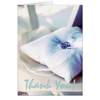 Beautiful Ring Pillow Wedding Thank You Note Card