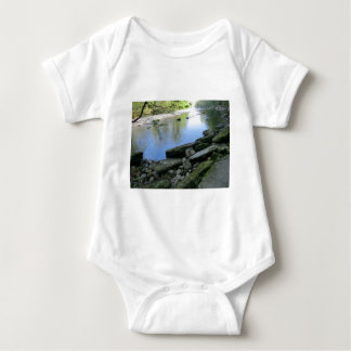 Beautiful River Bank Scene Baby Bodysuit