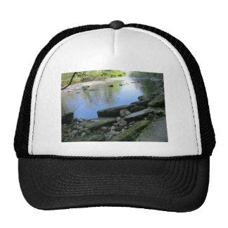 Beautiful River Bank Scene Trucker Hats