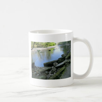 Beautiful River Bank Scene Mugs