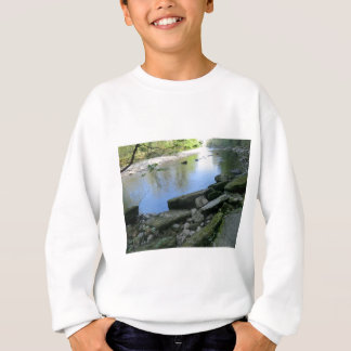 Beautiful River Bank Scene Sweatshirt