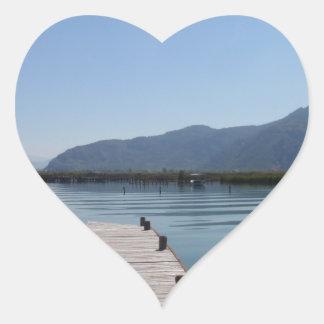 Beautiful River Heart Sticker