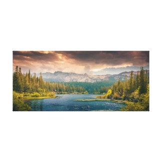 Beautiful river mountains nature landscape gallery wrap canvas