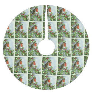 Beautiful Robin Festive Christmas Tree Skirt