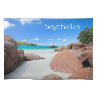 Beautiful rocky coast in Seychelles Placemat