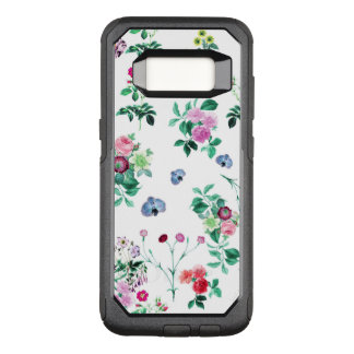 Beautiful romantic Girly Flower Design OtterBox Commuter Samsung Galaxy S8 Case