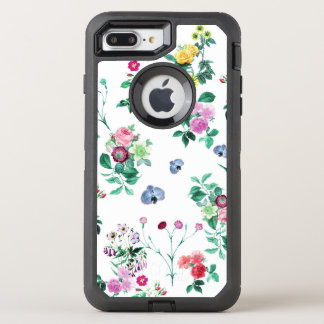 Beautiful romantic Girly Flower Design OtterBox Defender iPhone 8 Plus/7 Plus Case