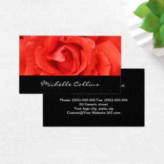 Beautiful romantic red rose personal profile