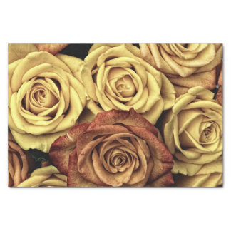 Beautiful Romantic Vintage Roses Photograph Tissue Paper