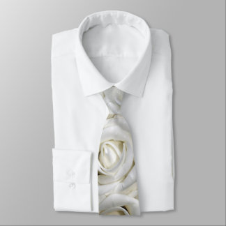 beautiful romantic white roses tie