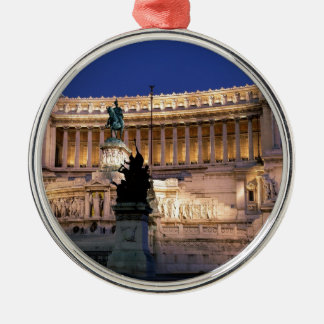 Beautiful Rome, Italy Silver-Colored Round Decoration