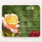 Beautiful rose 2018 calendar mouse mat
