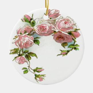 Beautiful Rose Design Christmas Ornament