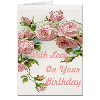 Beautiful Rose Design Greeting Card