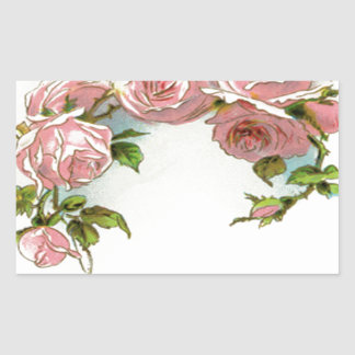 Beautiful Rose Design Rectangle Stickers