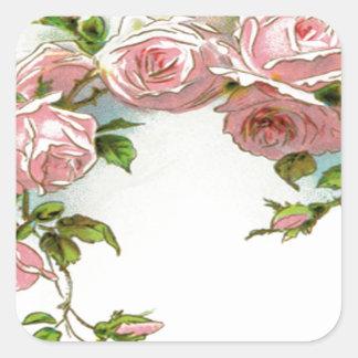 Beautiful Rose Design Square Sticker