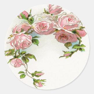 Beautiful Rose Design Round Sticker