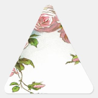 Beautiful Rose Design Triangle Sticker