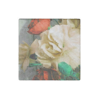 Beautiful Rose Floral Abstract Stone Magnet