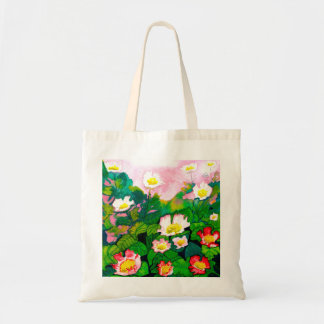 Beautiful Rose Garden Watercolour Budget Tote Bag