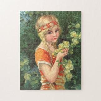 Beautiful Rose Girl Puzzles