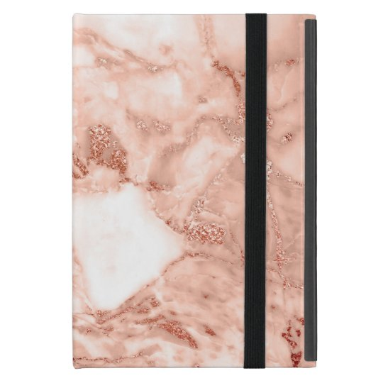 Beautiful Rose Gold Sparkle Faux Marble Pattern Cover
