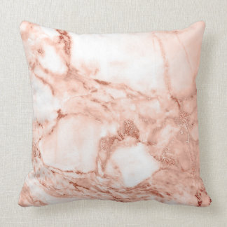 Beautiful Rose Gold Sparkle Marble Pattern Cushion