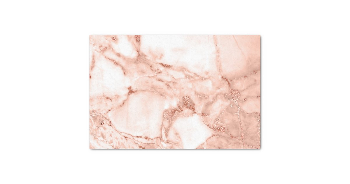 Beautiful Rose Gold Sparkle Marble Pattern Tissue Paper