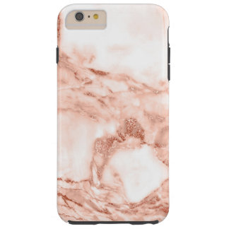 Beautiful Rose Gold Sparkle Marble Pattern Tough iPhone 6 Plus Case