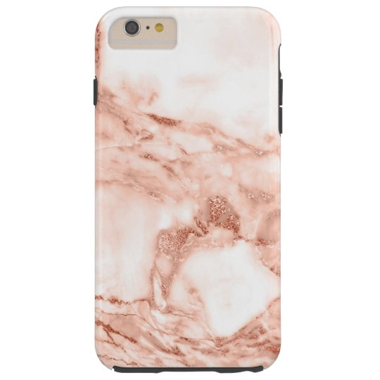 Beautiful Rose Gold Sparkle Marble Pattern Tough iPhone
