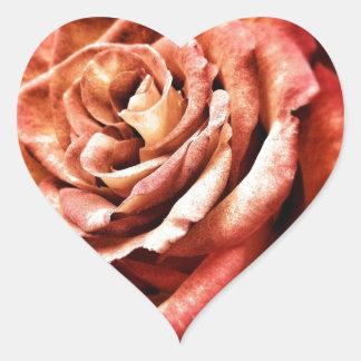 Beautiful Rose Heart Sticker