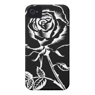 beautiful rose in black and white iPhone 4 covers