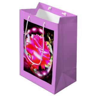 Beautiful rose medium gift bag