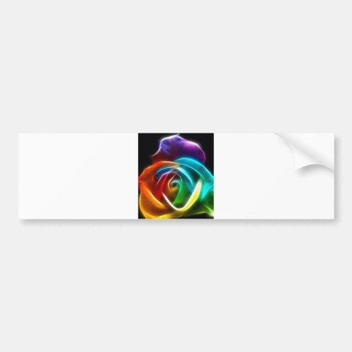 Beautiful Rose of Colors 3 Bumper Stickers