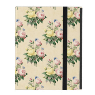 Beautiful rose pattern beige iPad case