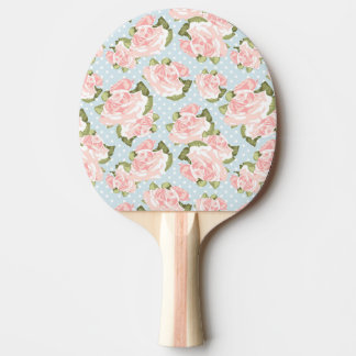 Beautiful rose pattern with blue polka dots