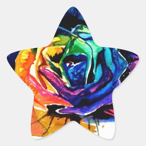 Beautiful rose star sticker