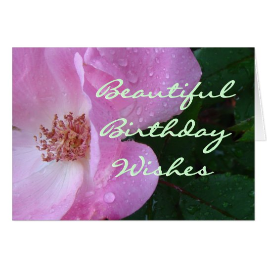Beautiful Rose Wishes-customise any occasion Card