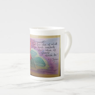 beautiful rose with vivid colors tea cup