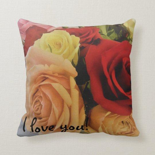 Beautiful Roses Pattern Romantic Cushion