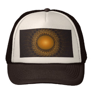 Beautiful round ornament trucker hat