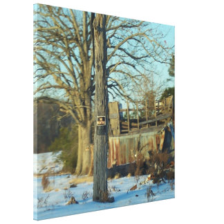 Beautiful Rural Snow Scene Gallery Wrap Canvas