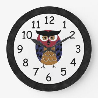 Beautiful Rustic Custom Owl Large Clock