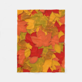 Beautiful Rustic Fall or Autumn Leaves Fleece Blanket