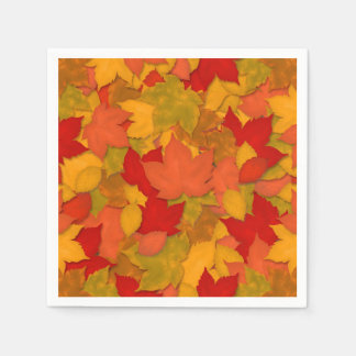 Beautiful Rustic Fall or Autumn Leaves Paper Napkin