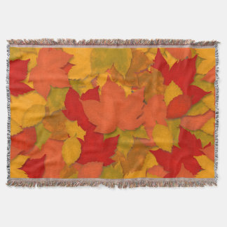 Beautiful Rustic Fall or Autumn Leaves Throw Blanket