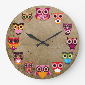 Beautiful Rustic Owls Wallclocks